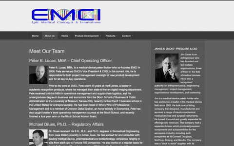 Screenshot of Team Page emci.co - Management | Epic Medical Concepts & Innovations - captured Oct. 2, 2014