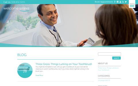 Screenshot of Blog welcomesmiles.com - Welcome Smiles Blog | Welcome Smiles Auburn, MA - captured Oct. 9, 2018