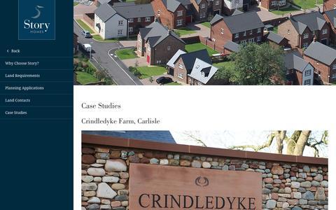 Screenshot of Case Studies Page storyhomes.co.uk - Case Studies - Story Homes - captured Dec. 5, 2016