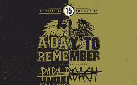 Screenshot of Home Page adtr.com - A Day To Remember | 15 Years In The Making - captured March 12, 2018