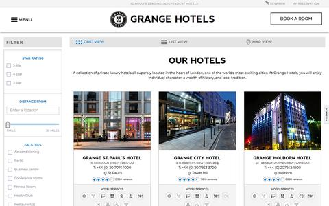 Grange Hotels - Luxury Hotels Collection in London