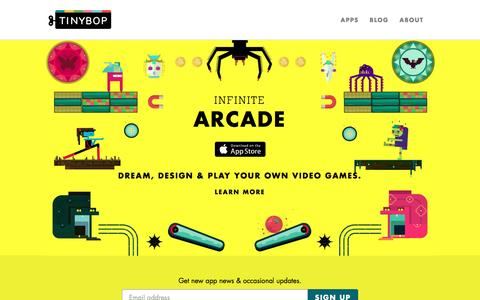Screenshot of Home Page tinybop.com - Toys for Tomorrow | Tinybop - captured June 1, 2016