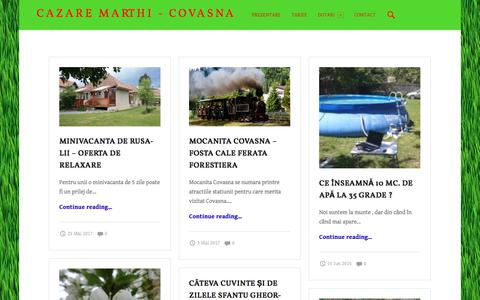 Screenshot of Press Page marthi.ro - Pensiune Blog – Cazare Marthi - Covasna - captured Oct. 17, 2017