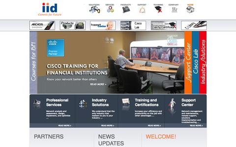 Screenshot of Home Page iidnetwork.net - IID Pvt. Ltd. :: ICT leader in Nepal with Expertise in technologies from Cisco, and Juniper. ::Cisco Premier Partner:: - captured Oct. 3, 2014