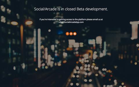 Screenshot of Signup Page Login Page socialarcadeapp.com - Social Arcade - captured Sept. 25, 2018