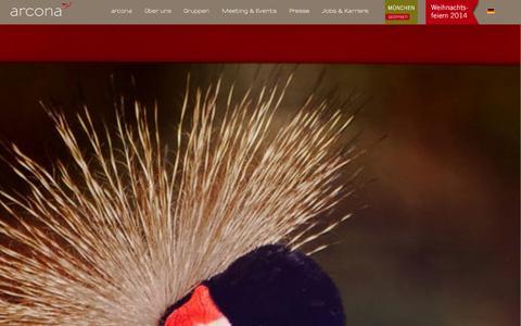 Screenshot of Home Page arcona.de - Ankommen.Wohlfühlen.Genießen. › arcona HOTELS & RESORTS - captured Sept. 18, 2014
