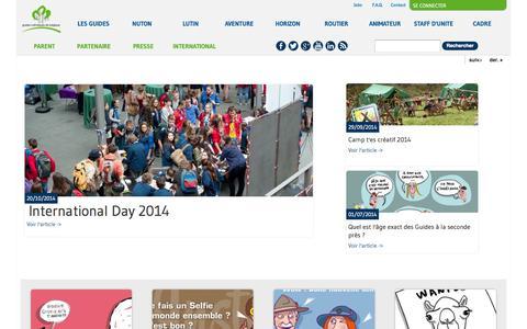Screenshot of Blog guides.be - | Les Guides - captured Nov. 2, 2014