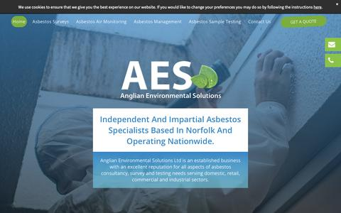 Screenshot of Home Page anglian-es.co.uk - Experienced asbestos specialists | Anglian Environmental Solutions Ltd - captured Dec. 18, 2018