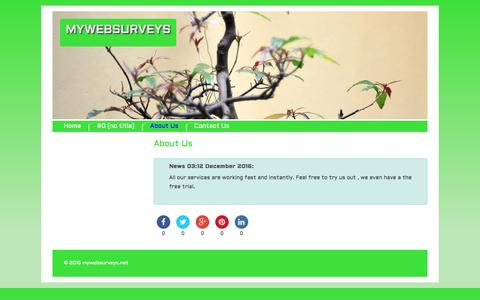 Screenshot of About Page mywebsurveys.net - About Us | Mywebsurveys - captured Dec. 10, 2016