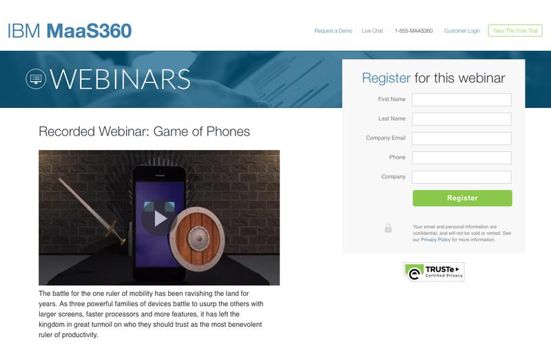 Recorded Webinar: Game of Phones