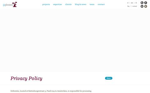 Screenshot of Privacy Page ijsfontein.nl - Privacy Policy | IJsfontein - captured Oct. 21, 2018