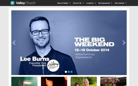Screenshot of Home Page valleychurch.eu - Valley Church - Empowering A New Generation - captured Oct. 6, 2014