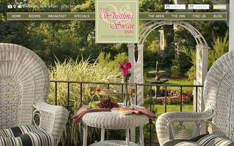Screenshot of Maps & Directions Page whistlingswaninn.com - Find Our Bed and Breakfast in New Jersey Skylands - captured Sept. 21, 2018