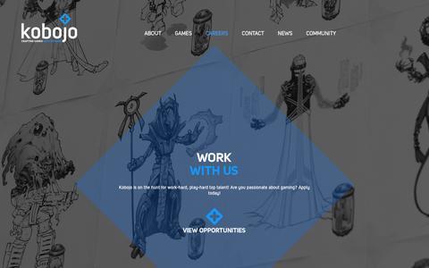 Screenshot of Jobs Page kobojo.com - Kobojo - Careers - captured Nov. 18, 2015