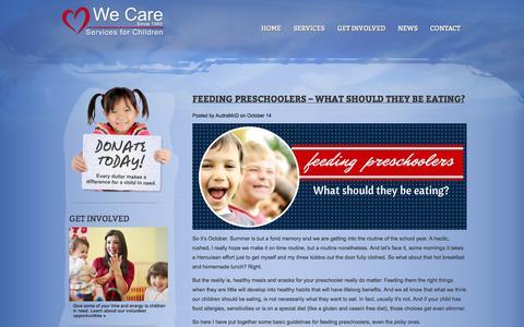 Screenshot of Blog wecarechildren.org - We Care Children » Blog - captured Oct. 27, 2014
