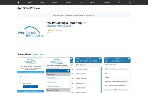 WJ IV Scoring & Reporting on the App Store