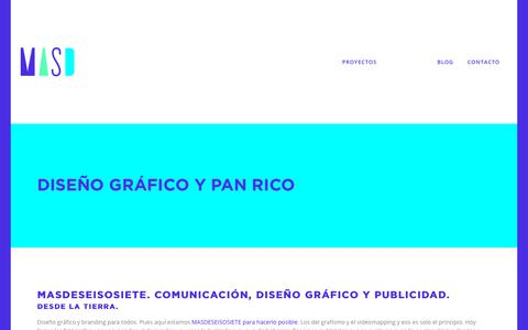 Screenshot of About Page masdeseisosiete.com - nosotros - masdeseisosiete - Diseño gráfico, comunicación. - captured July 26, 2018