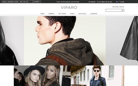 Screenshot of Home Page viparo.com.au - Leather Jackets Online  Shop Fashion, Bags, and More   VIPARO - captured Sept. 19, 2014