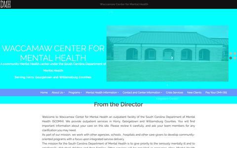 Screenshot of Home Page waccamawmentalhealth.org - Waccamaw Center for Mental Health - captured Oct. 31, 2018