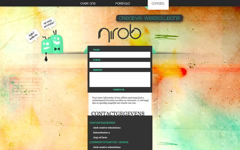 Screenshot of Contact Page nirob.nl - Nirob Creative Websolutions. - captured Oct. 7, 2014