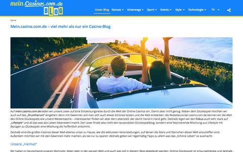 Screenshot of Blog casino.com.de - Online Glücksspiel einmal aus einem etwas anderen Sichtwinkel - captured Sept. 22, 2016