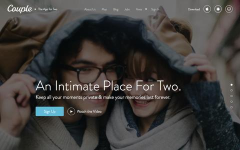 Screenshot of Home Page couple.me - Couple - captured Sept. 13, 2014