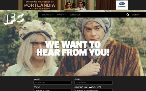 Screenshot of Contact Page ifc.com - Contact Us | IFC - captured Dec. 9, 2015