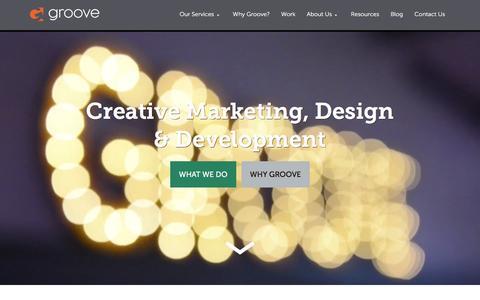 Screenshot of Home Page gotgroove.com - Magento Gold Partner | Hubspot Platinum Partner | Groove: Creative Marketing, Design & Development - captured Jan. 17, 2016