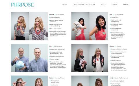 Screenshot of Team Page purposeboutique.com - Team — Purpose Boutique - captured Dec. 14, 2015