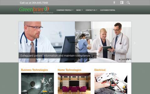 Screenshot of Home Page grcs.com - Greenbrier Technologies | Lewisburg WV IT Managed Services - captured Jan. 23, 2015