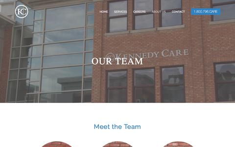 Screenshot of Team Page kennedycare.com - Our Team — Kennedy Care - captured June 9, 2017