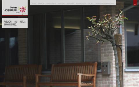 Screenshot of Home Page huyzehonighsdries.be - Huyze Honighsdries | En nog een WordPress site - captured Oct. 3, 2014