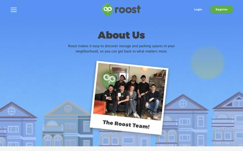 Screenshot of About Page roost.com - About | Roost - captured Feb. 19, 2016