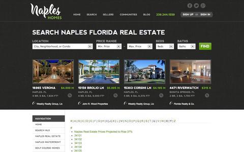 Screenshot of Site Map Page napleshomes.com - Site Map - captured Oct. 6, 2014