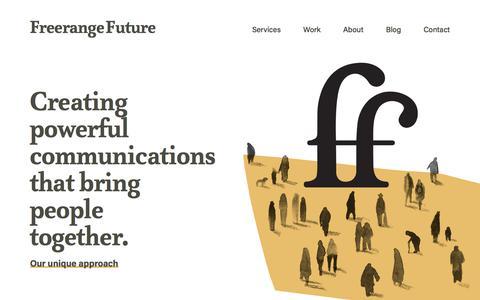 Screenshot of Home Page freerangefuture.com - Freerange Future | Creative Digital Agency Adelaide & Melbourne - captured Nov. 5, 2019