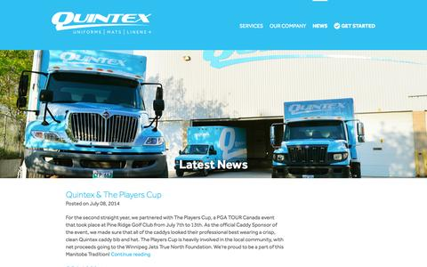 Screenshot of Press Page quintexservices.com - News - Quintex Services - captured Nov. 2, 2014