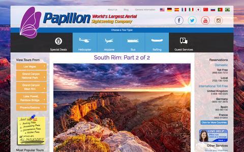 Screenshot of Blog papillon.com - | Papillon Grand Canyon Helicopters - captured Sept. 22, 2014