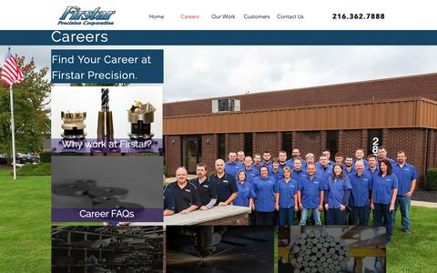 Screenshot of Jobs Page firstarcnc.com - Firstarcnc | Careers - captured Nov. 14, 2018