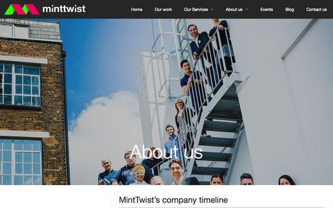 Screenshot of About Page minttwist.com - Find out all about MintTwist - captured Nov. 23, 2015