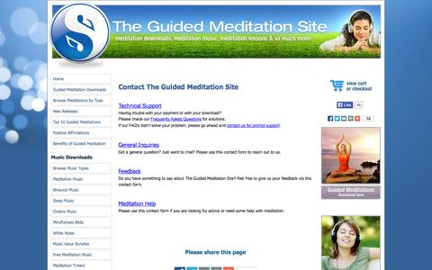 Screenshot of Contact Page the-guided-meditation-site.com - Contact - captured Nov. 5, 2014
