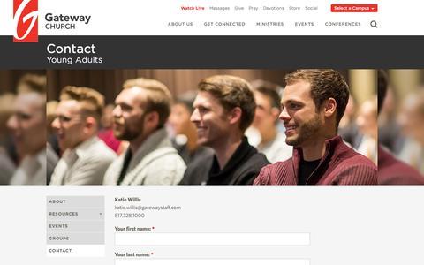 Screenshot of Contact Page gatewaypeople.com - Contact | Gateway Church - captured Feb. 12, 2017