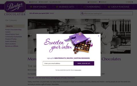Screenshot of About Page purdys.com - About Purdys - captured Nov. 13, 2016