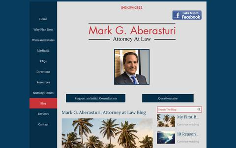 Screenshot of Blog ny-elderlaw.com - Mark G. Aberasturi, Attorney at Law Blog | Goshen, NY - captured June 29, 2018