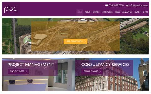 Screenshot of Home Page pandbc.co.uk - Project & Building Consultancy | PBC - captured Sept. 29, 2018