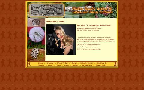 Screenshot of Press Page monbijouusa.com - Mon Bijou Fashion Jewelry :: Contact Us - captured Oct. 31, 2014