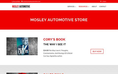Screenshot of Products Page mosleyautomotive.com - » Products for Auto Dealers | Mosley Automotive  Copy - captured June 13, 2017