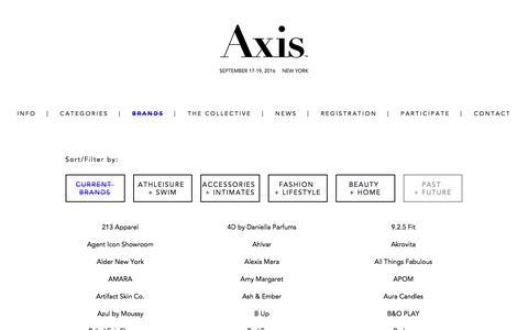 Screenshot of axisshow.com - Brands - AXIS Show 2016 - captured April 10, 2016