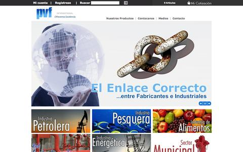 Screenshot of Home Page pvfinternational.com captured Oct. 1, 2014