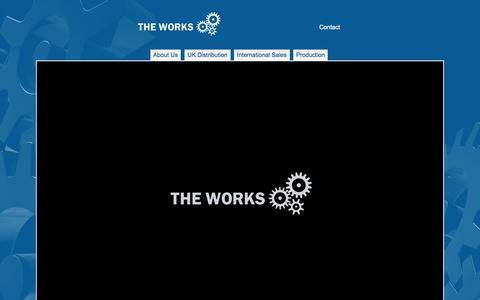 Screenshot of Home Page theworksfilmgroup.com - The Works Film Group - captured Oct. 9, 2014