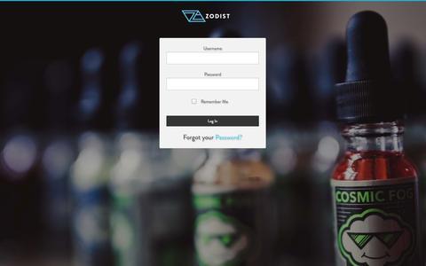 Screenshot of Login Page zodist.com - Log In | Zodist - captured Oct. 9, 2014